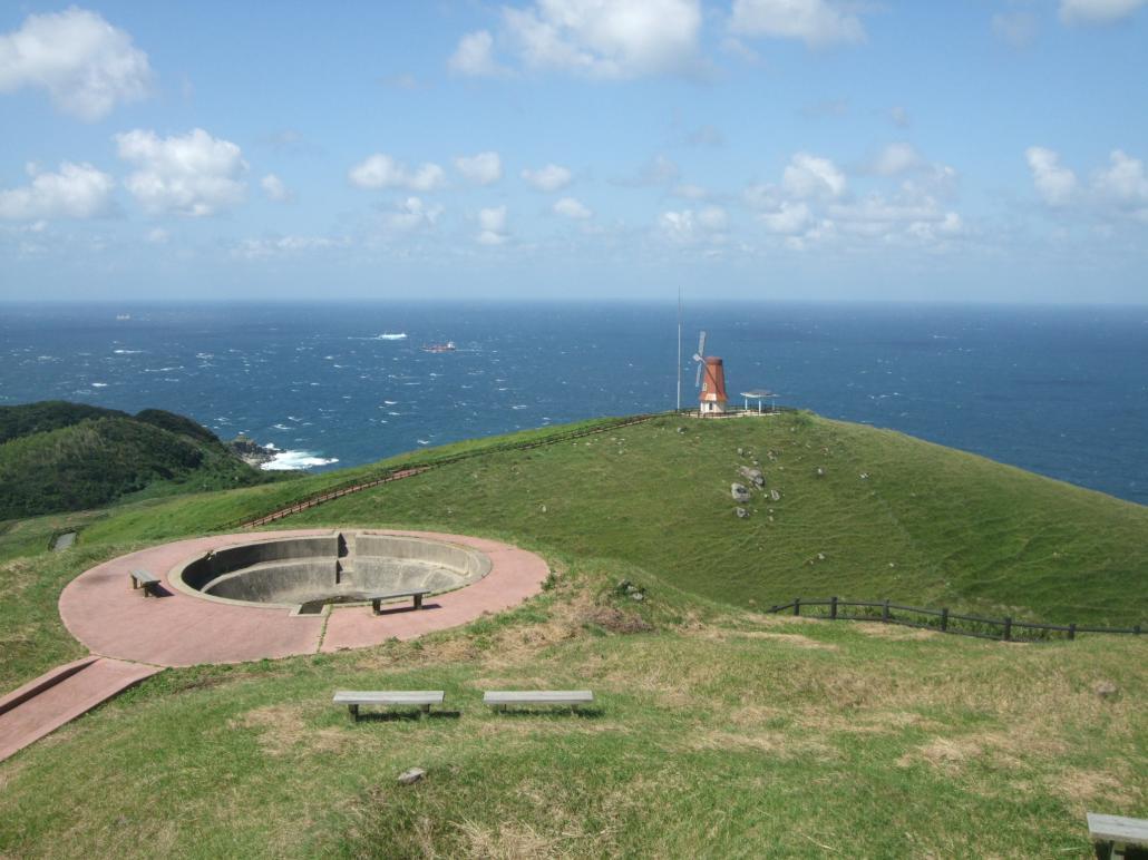風車展望所から玄界灘を望むの画像